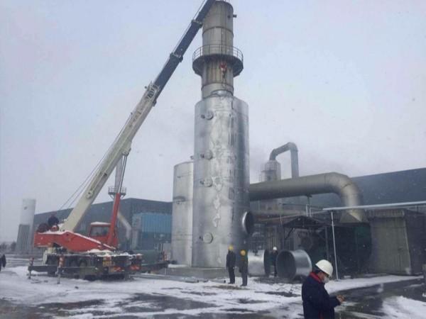 耀先-工业废气处理施工如图